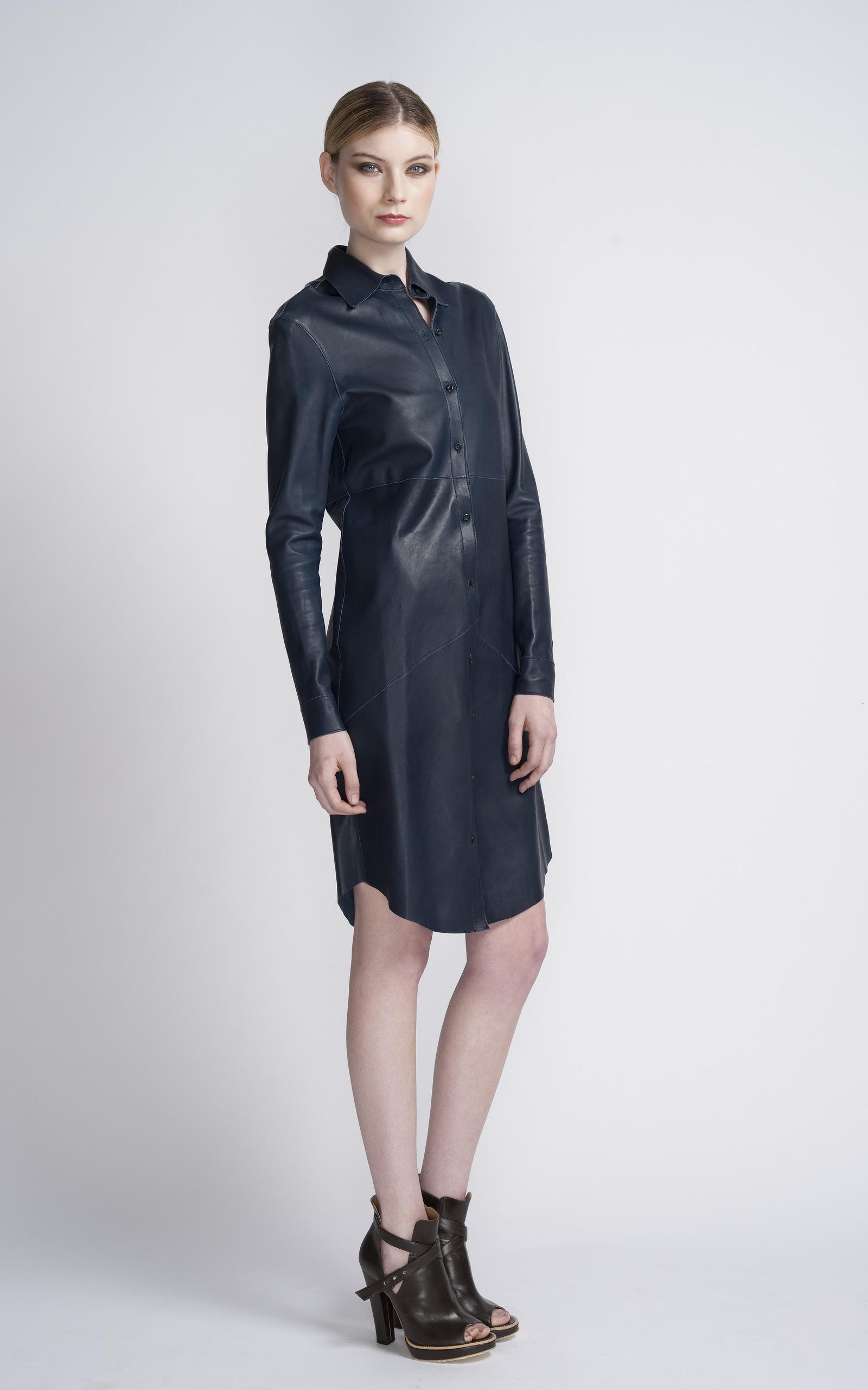 Raw Edge Leather Shirt Dress Edun Moda Operandi