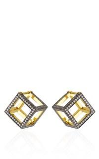Geometry 101 Cube Earrings by Noor Fares | Moda Operandi