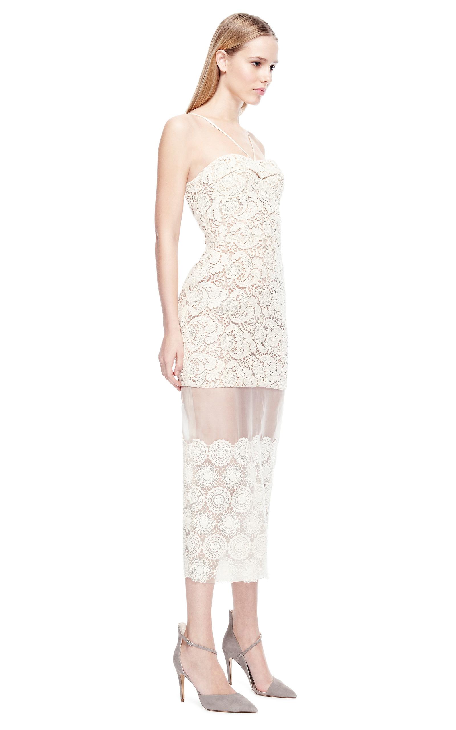 Ivory Lace And Organza Dress by Ruban  Moda Operandi