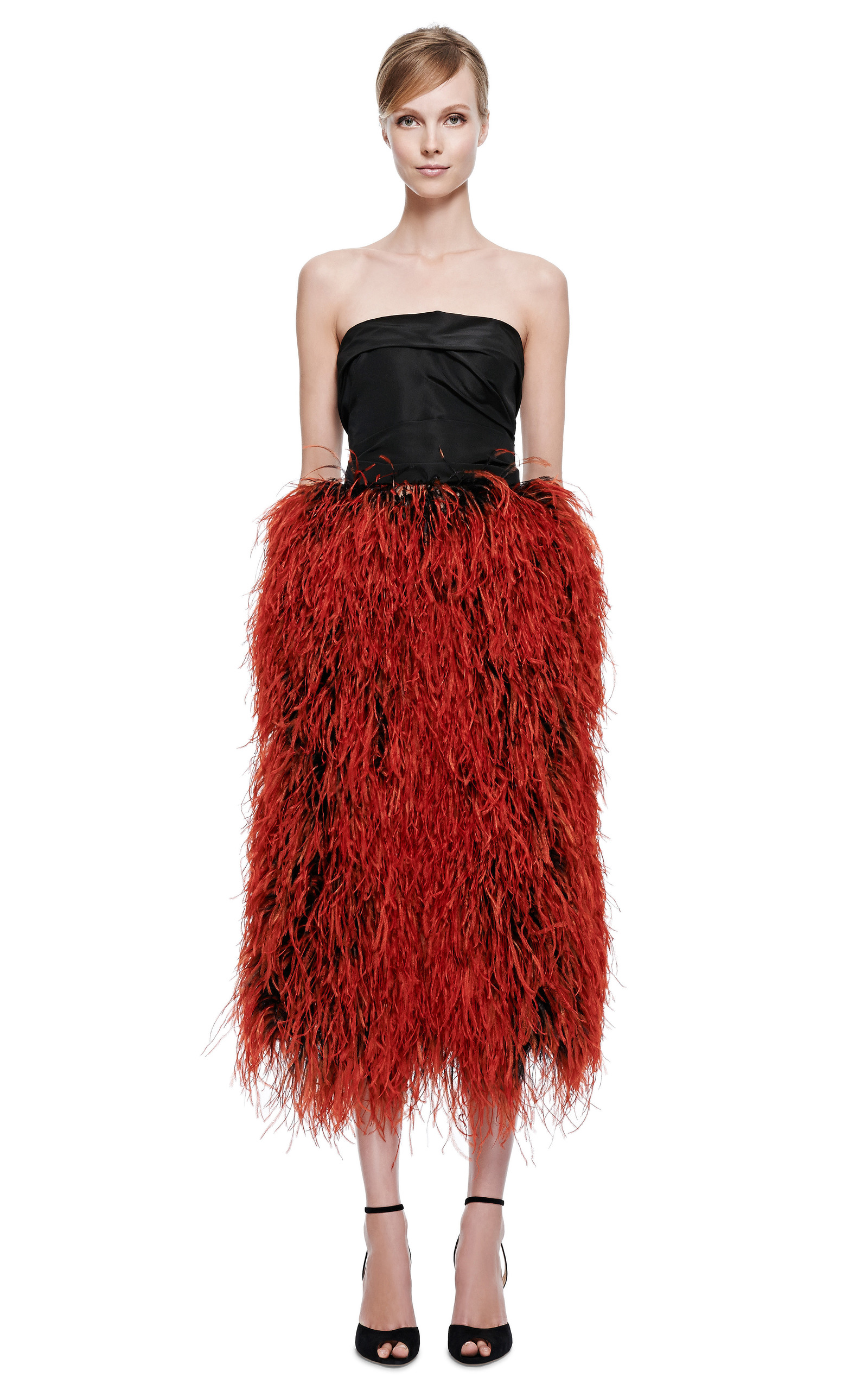 Cocktail Dresses with Ostrich Feathers