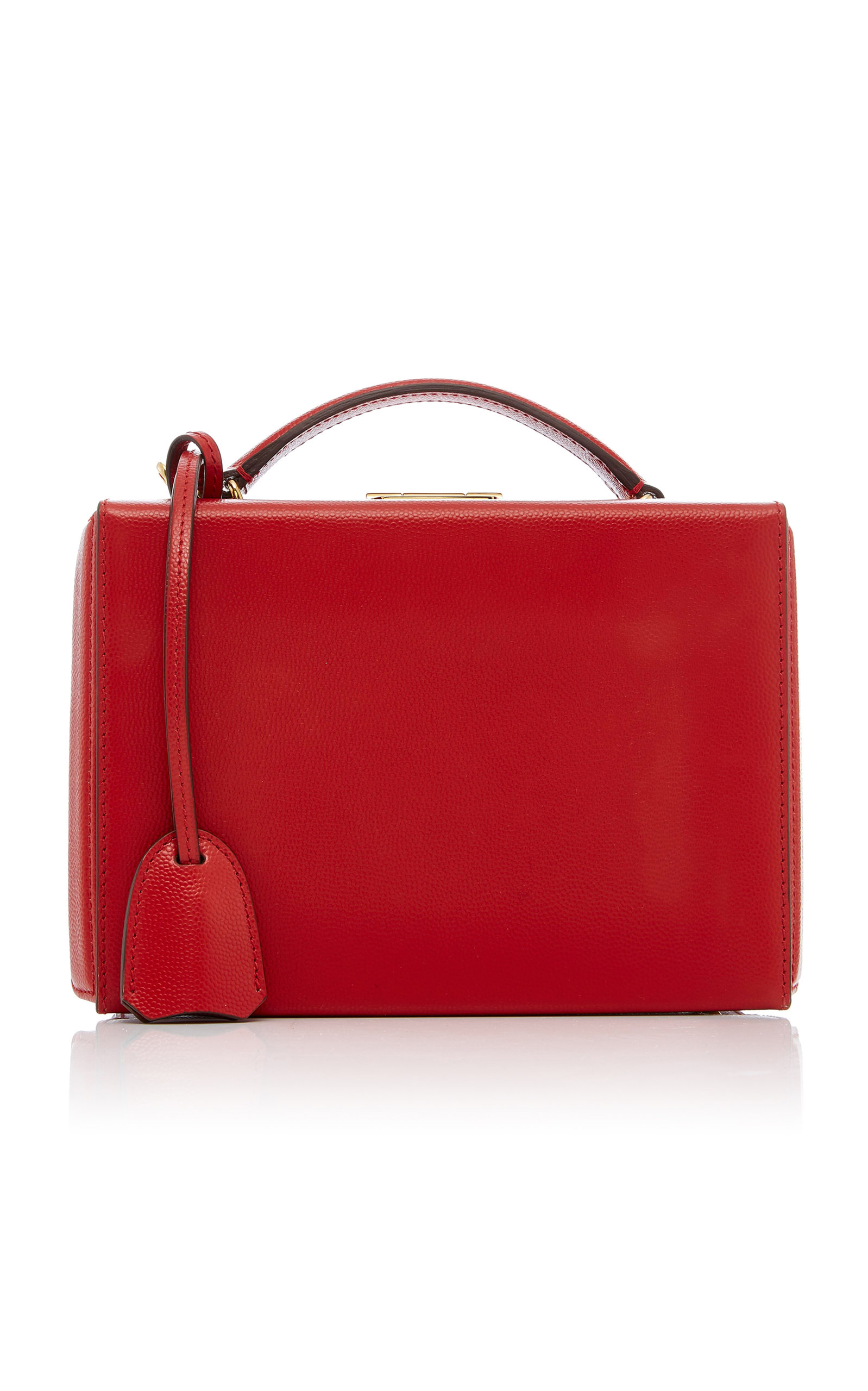 Mark Cross Grace Small Caviar Leather Box In Red | ModeSens