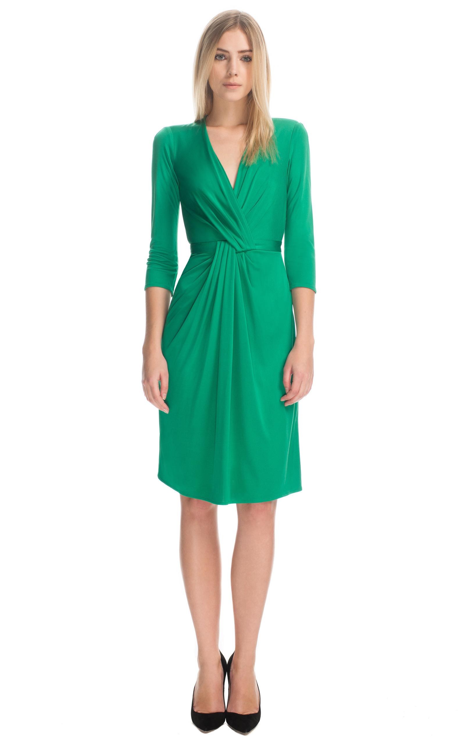 Silk Jersey Wrap Dress