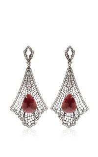 Art Deco Spiderweb Earrings by Loree Rodkin | Moda Operandi