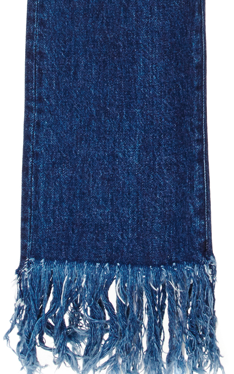 Denim Cropped Jeans With Frayed Fringed Hems By 3X1 Moda
