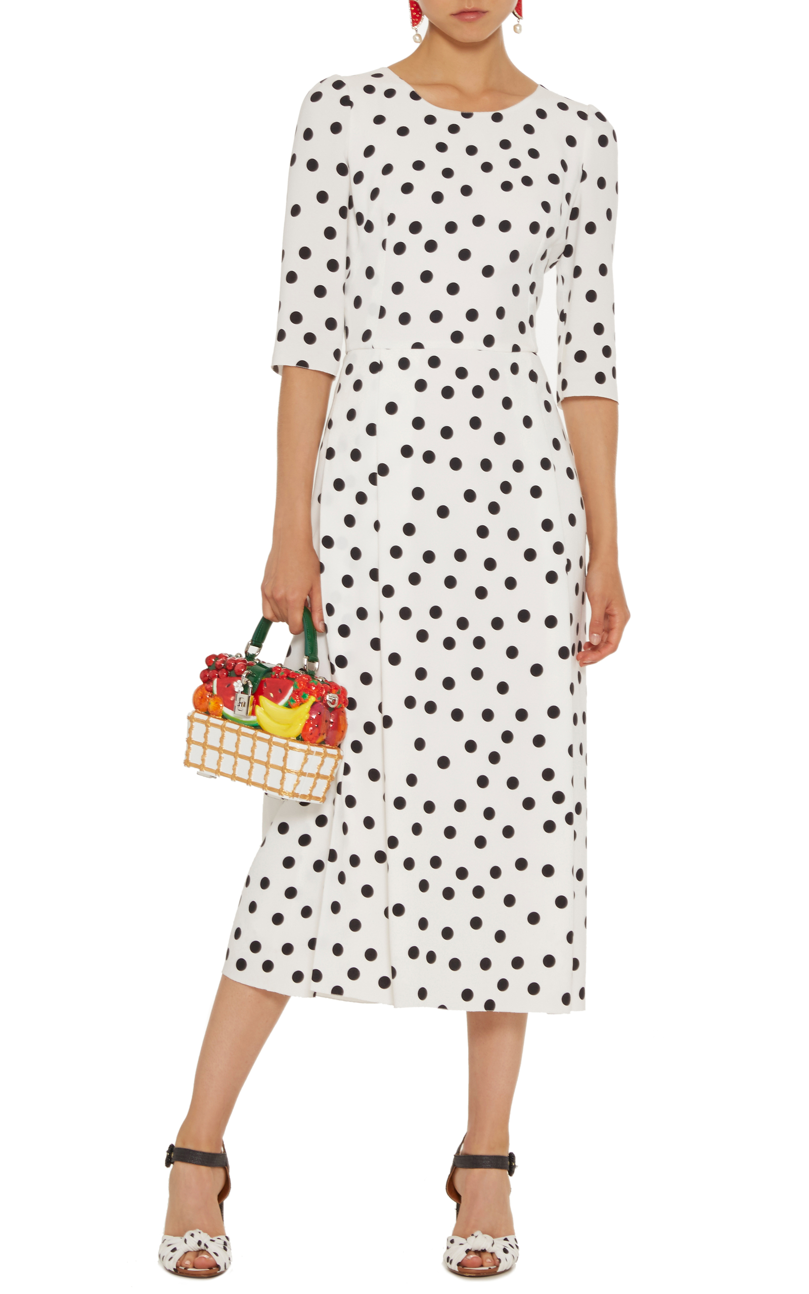 PolkaDot Midi Dress by Dolce  Gabbana  Moda Operandi