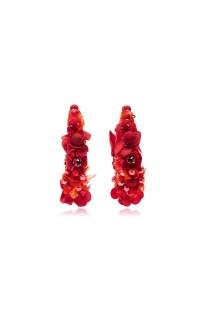 Red Hoop Earrings by Ranjana Khan | Moda Operandi