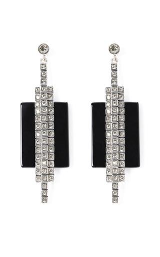 Ca&Lou Veronika Onyx Earrings by Charlotte Olympia