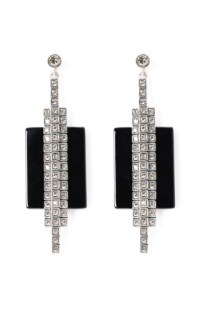 Ca&Lou Veronika Onyx Earrings by Charlotte Olympia