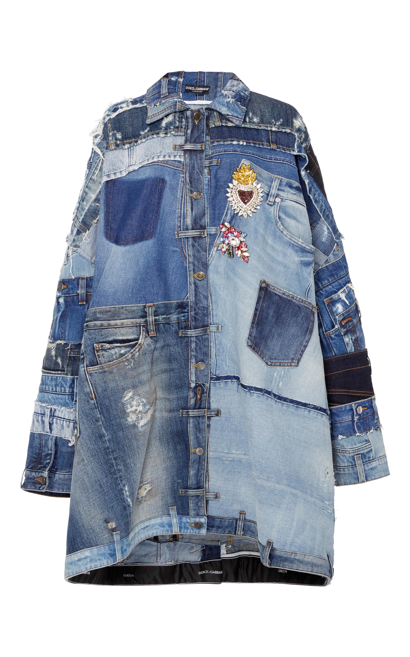 Patchwork Denim Jacket by Dolce  Gabbana  Moda Operandi