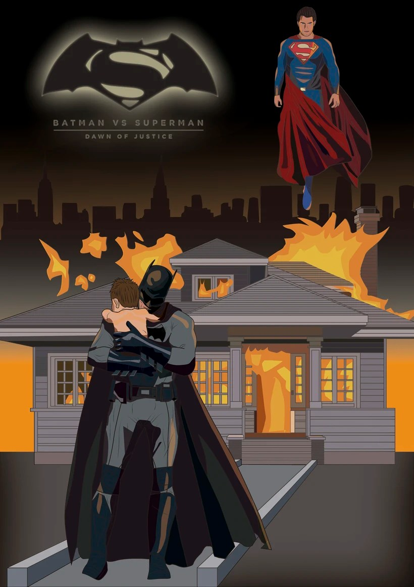 graphic design - batman superman