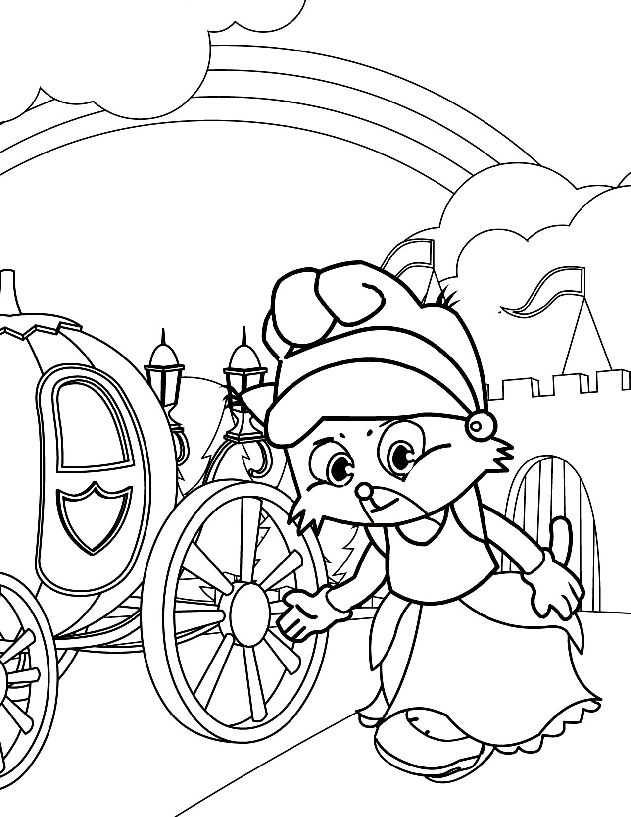Cinderella Fairy Tale Pages Coloring Pages