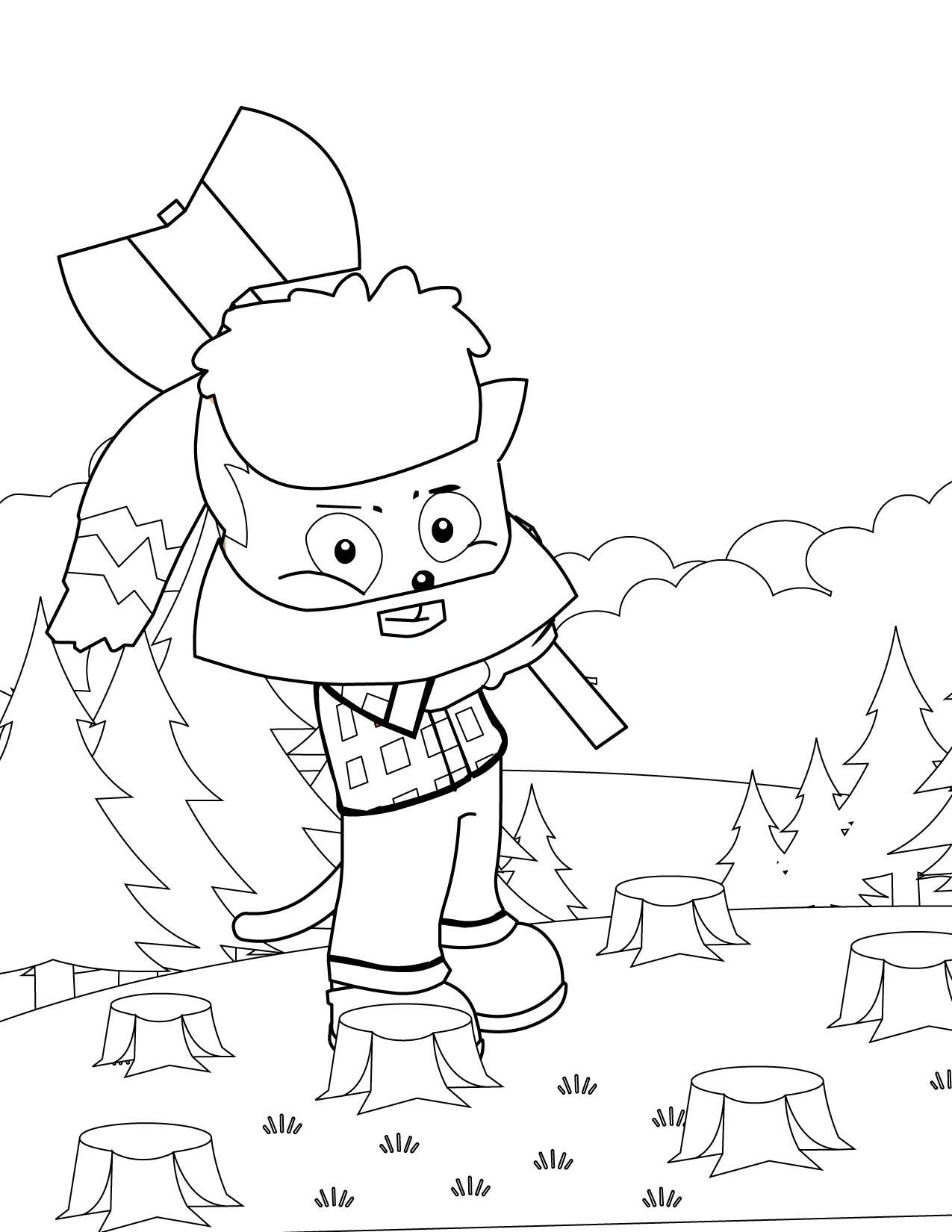 paul bunyan coloring pages