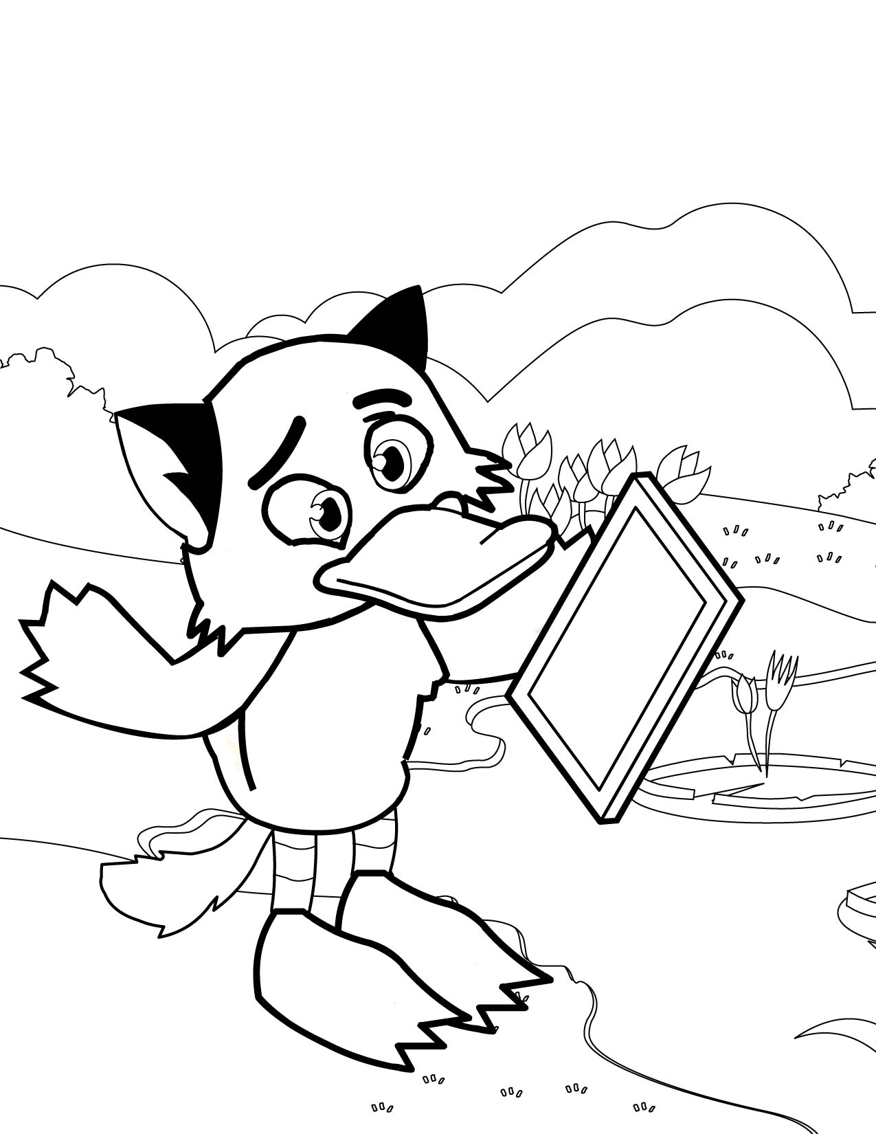 Coloring pages Ugly Duckling Coloring