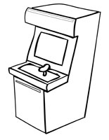 Arcade Games Tickets Pages Coloring Pages