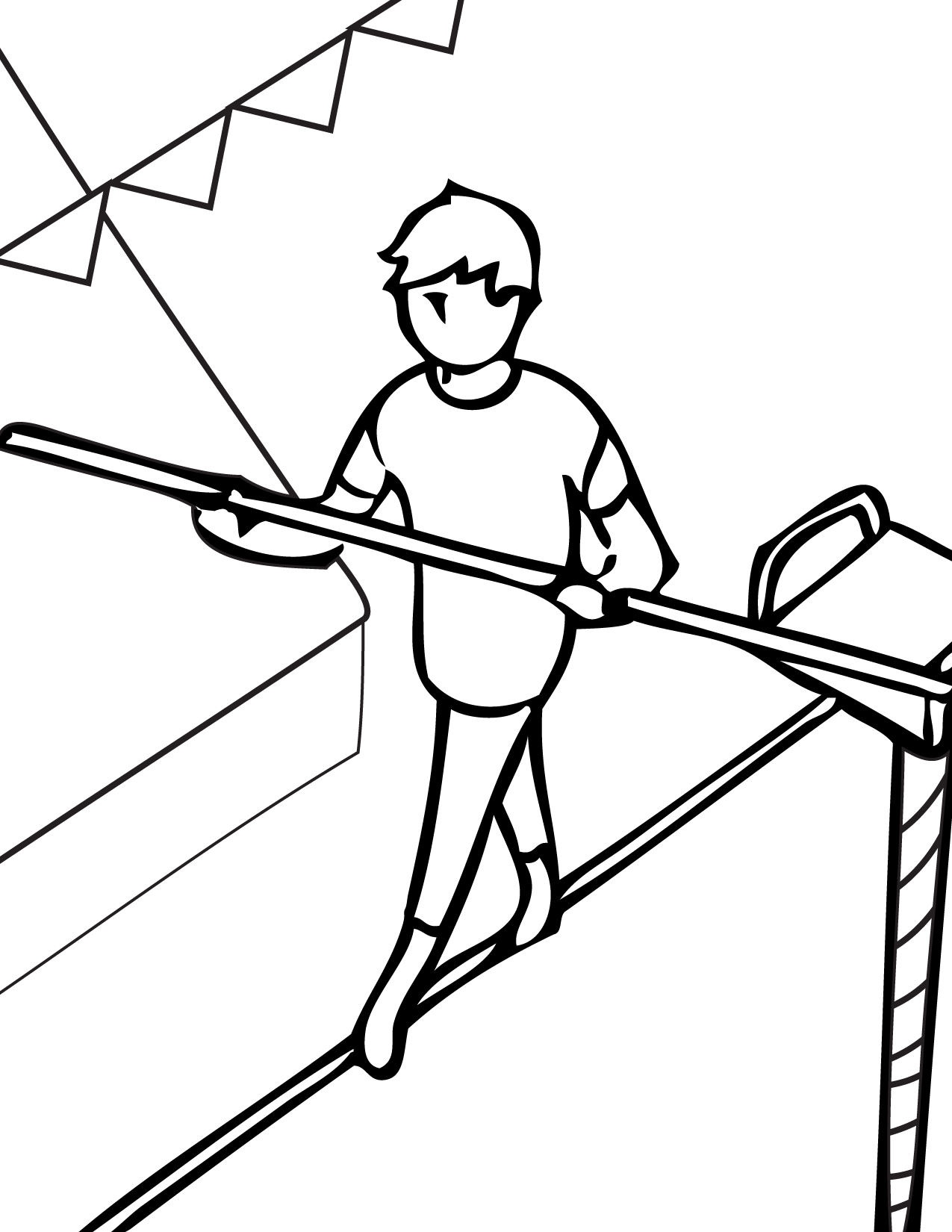 Tightrope Walker Coloring Pages Coloring Pages
