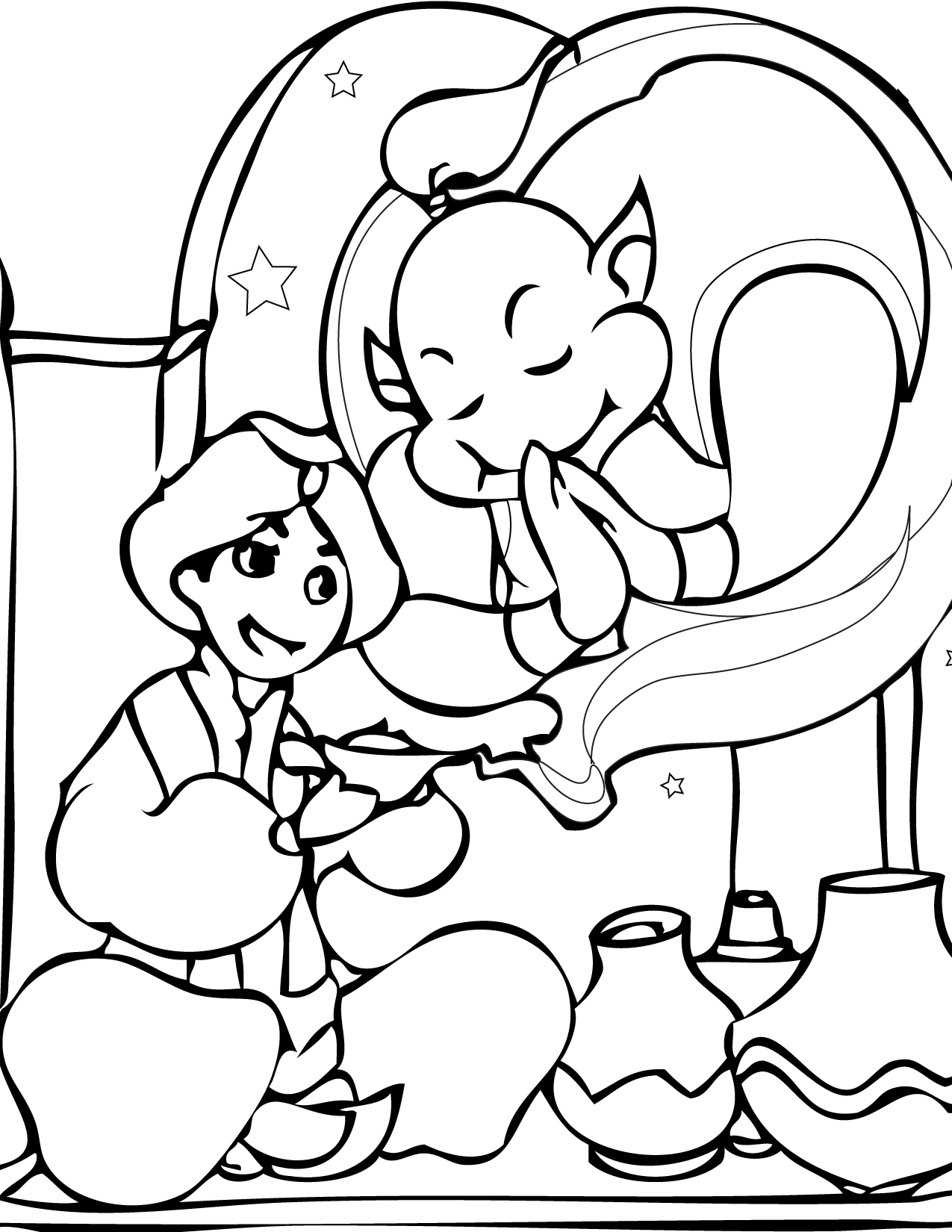 Fairy Tales Scenes Pages Coloring Pages