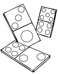 Dominoes Coloring Page - Handipoints