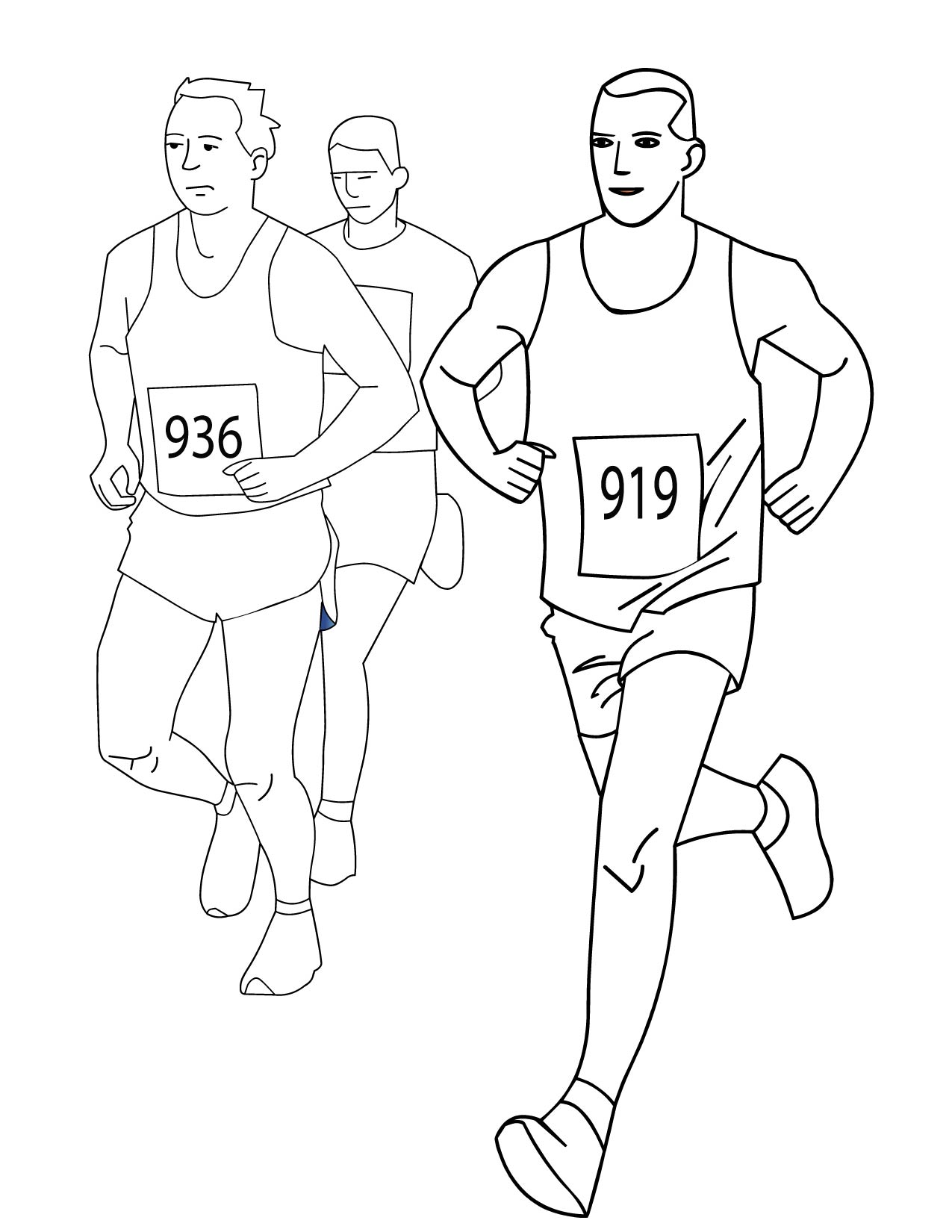 Running Track Coloring Pages Coloring Pages