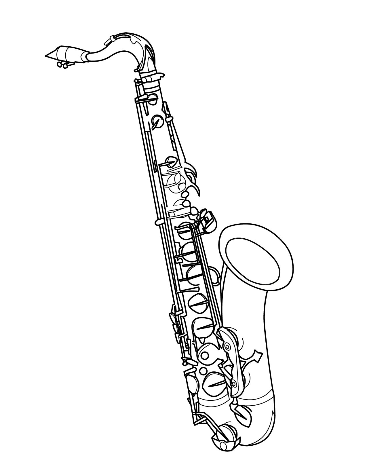 Free coloring pages of jazz musical