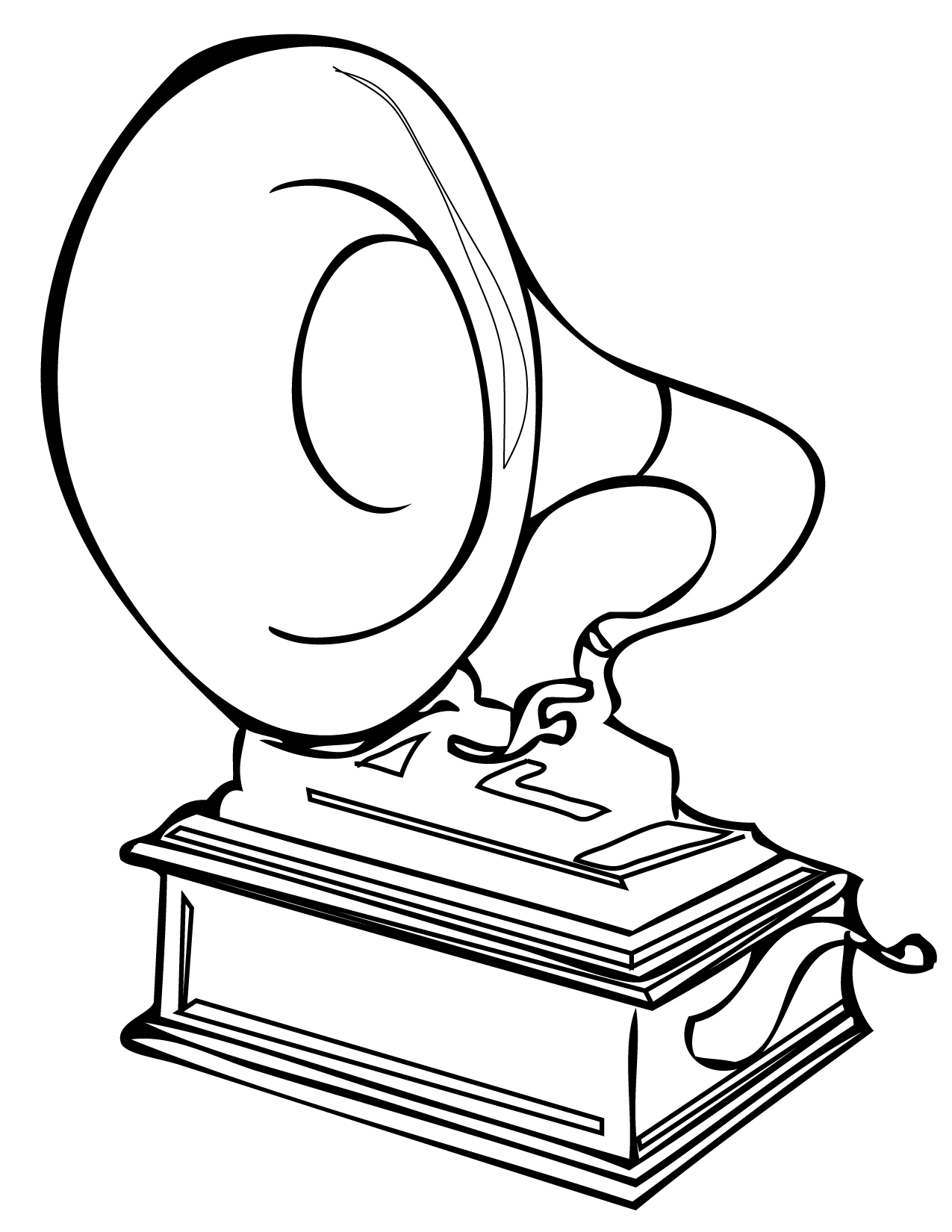 Record Player Coloring Page Coloring Pages