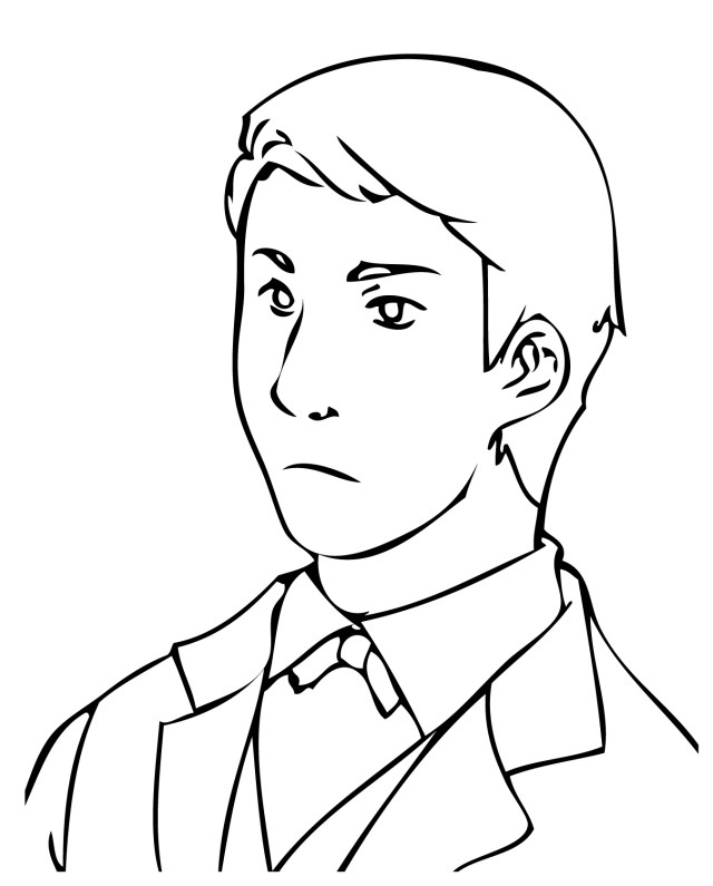 Free man coloring pages