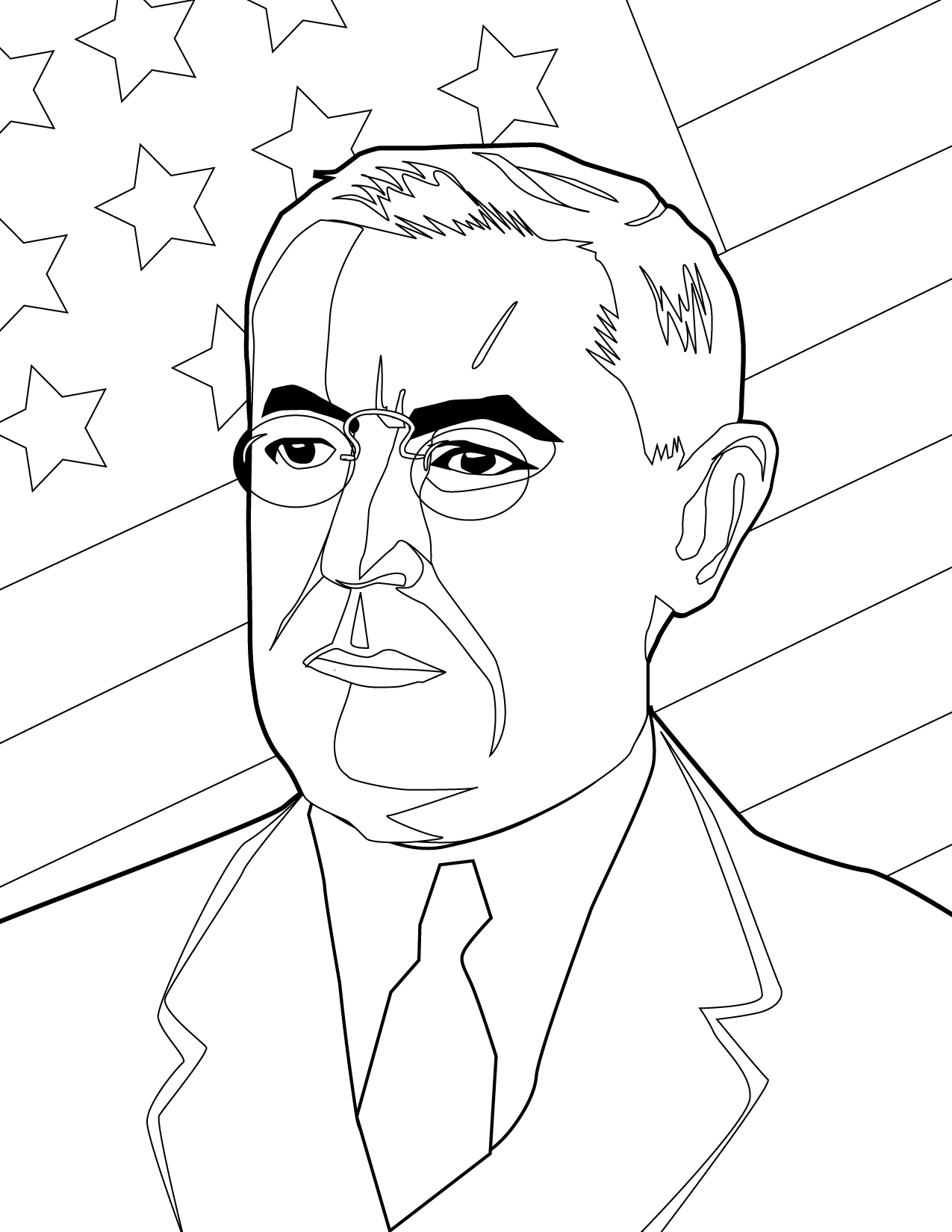Woodrow Wilson Colouring Pages Sketch Coloring Page