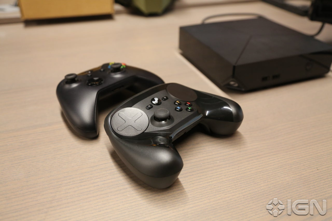 living room gaming pc mounted tv ideas steam controller photo gallery - ign