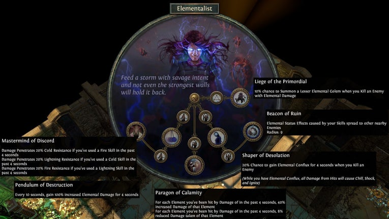 Path Of Exile Wallpaper Fall Of Oriath Path Of Exile Introduces The Elementalist As New