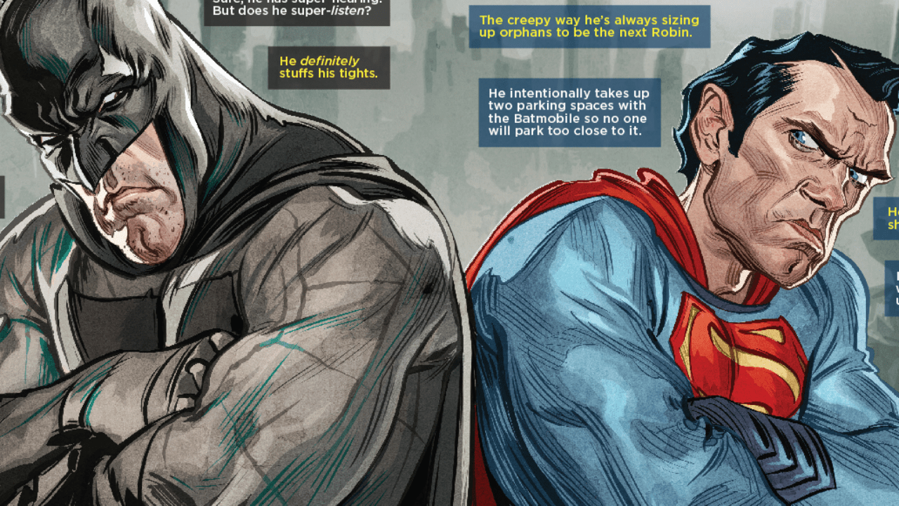 MAD Magazine Reveals The Real Reasons Batman And Superman Hate Each Other IGN