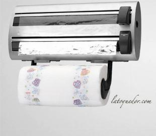 derouleur de cuisine inox film alimentaire et papier cuisson la toque d or
