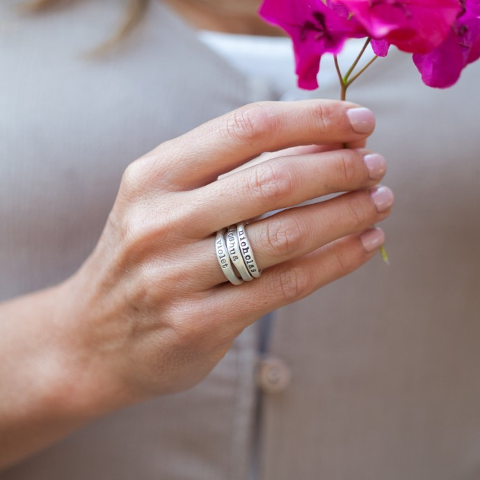 Stackable Wedding Ring Set