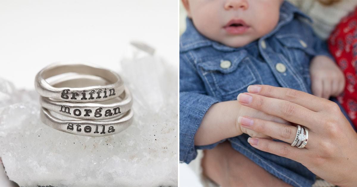 Stacking Name Rings By Lisa Leonard Designs