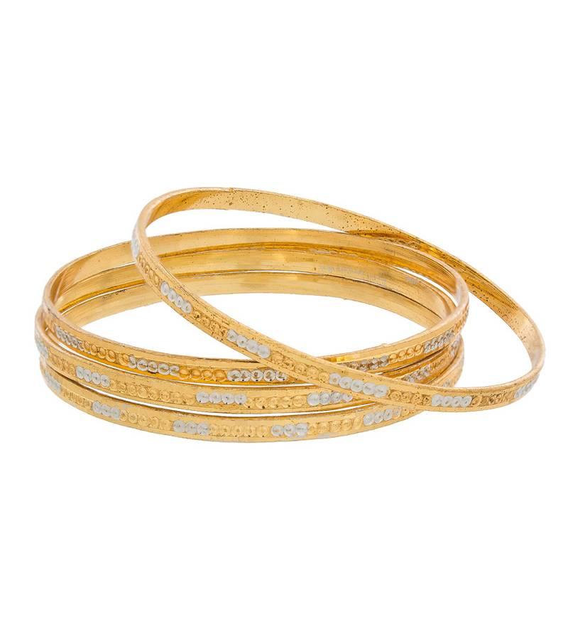 Buy Designer Gold Plated Office Wear Bangles Online