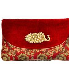Buy Craftstages Velvet Party wear Sling Bag clutch online