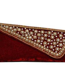 Buy Stylish Embellishment Decorative Clutch in Red clutch online