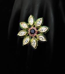 Buy blue red ruby sapphire kundan ring Ring online