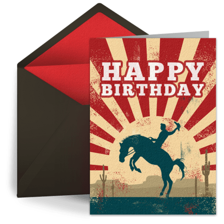Cowboy Birthday Free Kids Happy Birthday ECard Greeting