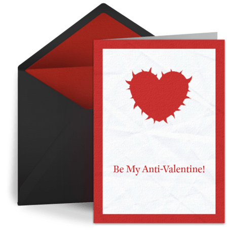 Spiked Heart Free Anti Valentine Anti Valentines Day