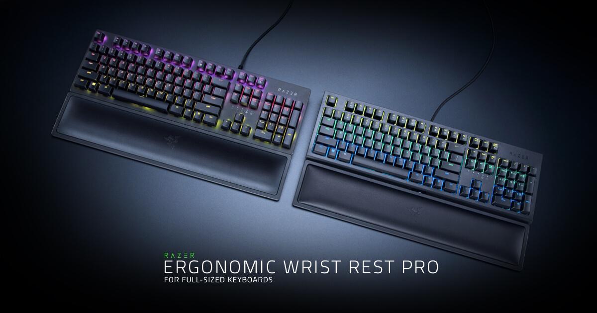 razer ergonomic wrist rest pro for full sized keyboards