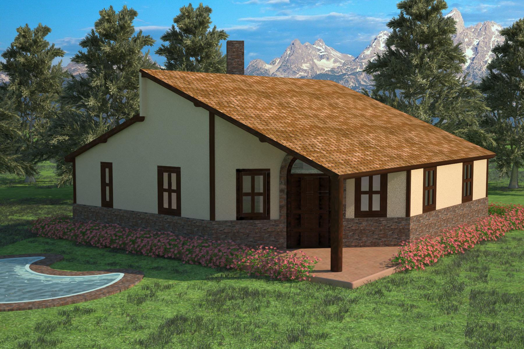 Casa Rustica vista exterior  Domestika
