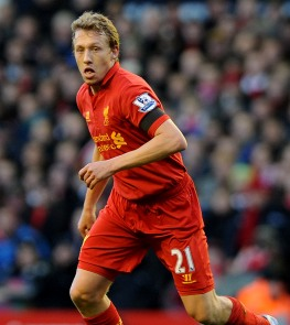 Lucas Leive, Liverpool's number 21.
