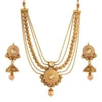 Buy Tempting Gold plated kundan set Online
