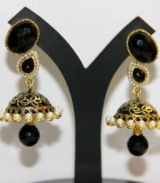 Buy BEAUTIFUL BLACK MEENAKARI JHUMKA jhumka online