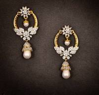 Buy Gold Diamond Chand Bali Earrings Online