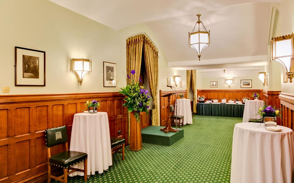 Dining Room A standing reception max 80 pax  UK Parliament