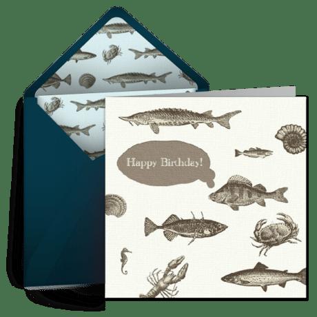 Birthday Fish For Him Free Birthday Card For Him Happy