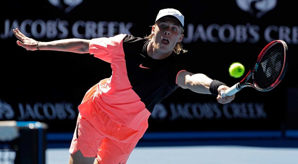 Image result for denis shapovalov australian open 2018