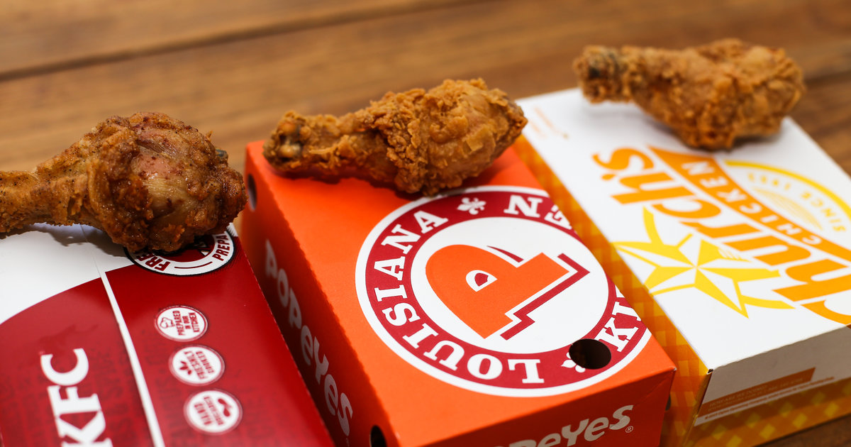 Best Fried Chicken  Ranking Churchs Chicken Popeyes Louisiana Kitchen and KFC  Thrillist