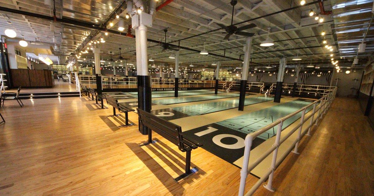 Shuffleboard Bar in NYC  The Royal Palms Shuffleboard