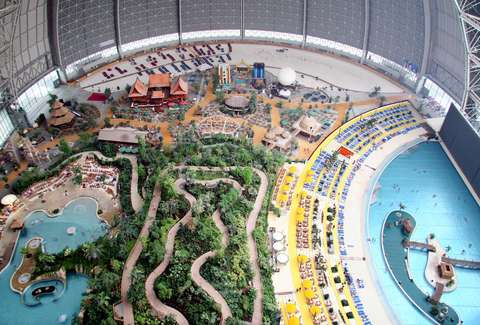 indoor beach tropical island